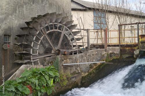 Wheel water mill in Reana del Rojale, Friuli, Italy