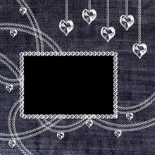 Denim Background With Crystal ...