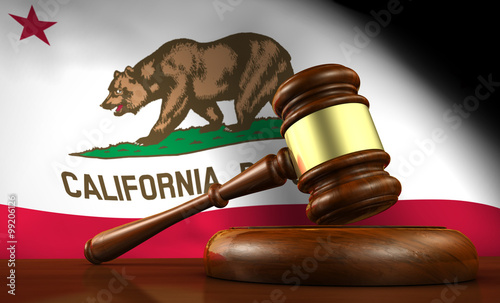 Canvas California Law Legal System Concept