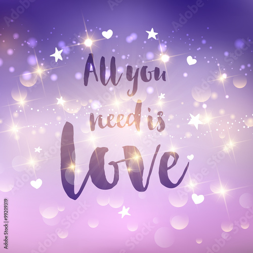 Photo  All you need is love background