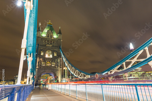 Night view of Tower Bridge in London Canvas Print