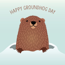 Happy Groundhog Day Design Wit...