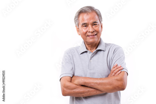Photo  portrait of happy smiling man