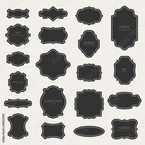 Fotografie, Obraz  Collection of various frames, labels