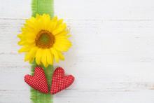 Sonnenblume Mit Herzen
