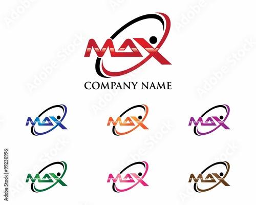 Fotografie, Obraz  MAX Letter Logo