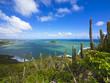 canvas print picture Blick über die Savannes Bay Nature Reserve bei Vieux Fort, Saint Lucia, St. Lucia, Inseln über dem Winde, Kleine Antillen, Karibik, Karibisches Meer, Nordamerika