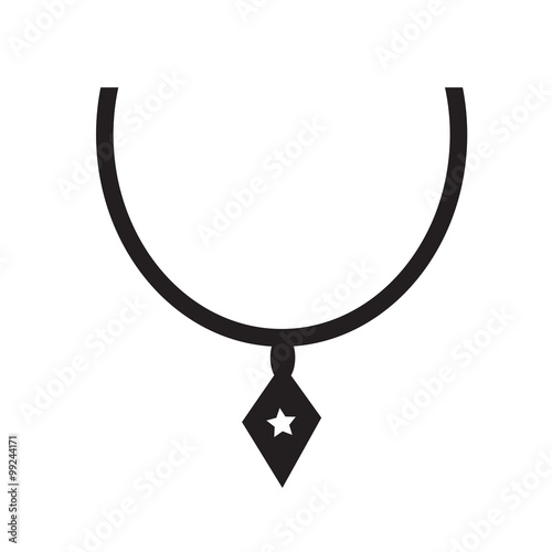Spoed Foto op Canvas Cartoon draw Necklace Icon Illustration synbol design