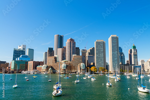 Boston, Massachusetts. Beautiful city skyline Canvas Print