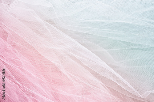 Fotografie, Obraz  Vintage tulle chiffon texture background