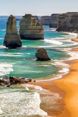 Fototapeta Morze Rocks of the Twelve Apostles along Australian coast