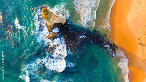 Overhead view of Twelve Apostles, Australia