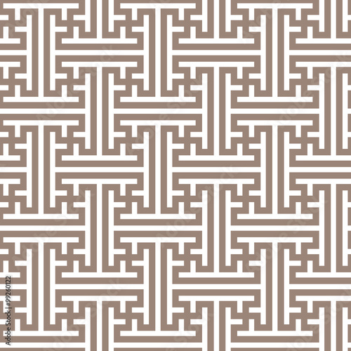 Geometric seamless pattern in asian style. Lattice, Puzzle ...