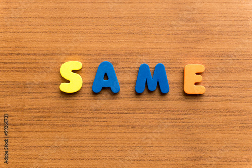 same colorful word Wallpaper Mural