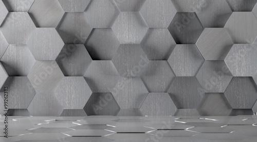 heksagonalny-kafelkowy-metalu-pokoju-tlo
