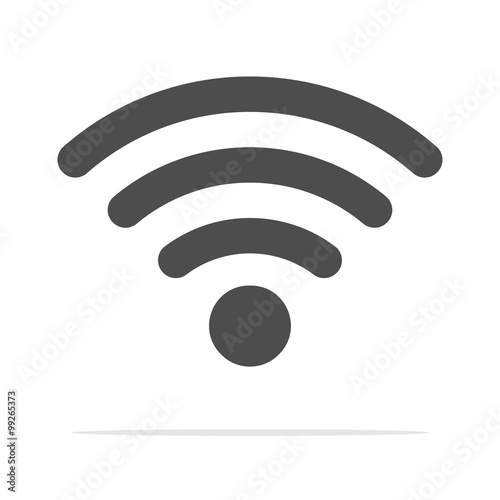 Fotomural  Wireless Icon, vector illustration. Wifi icons With Shadow