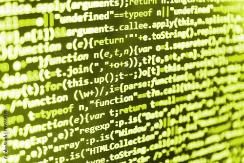 Writing programming functions on laptop  Mobile app