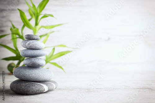 Spa stones. Wallpaper Mural