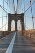 View along the pedestrian walkway, Brooklyn Bridge