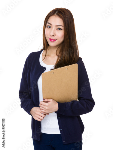 Asian Woman hold with clipboard Canvas-taulu