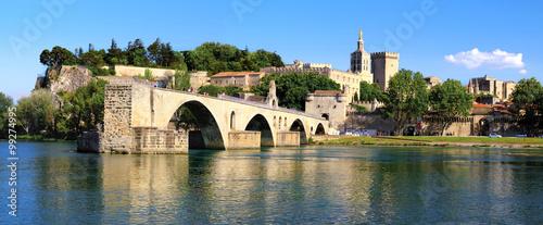 Photo Le rocher des Doms,le pont d'Avignon, et le Palais des Papes