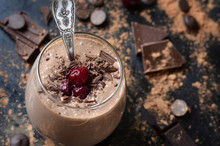 """Delicious Chocolate Smoothie """"Black Forest""""."""