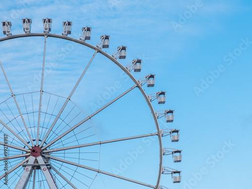 Poster Amusementspark Ferris wheel with passenger gondolas