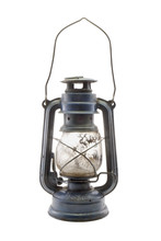 Old Dirty Kerosene Lamp / Old Dirty Kerosene Lamp On White Background.