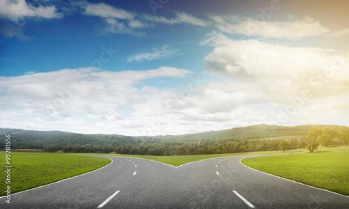 Cuadros en Lienzo Asphalt crossroad image