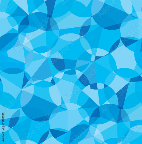 fototapeta na lodówkę Seamless blue color geometric vector pattern