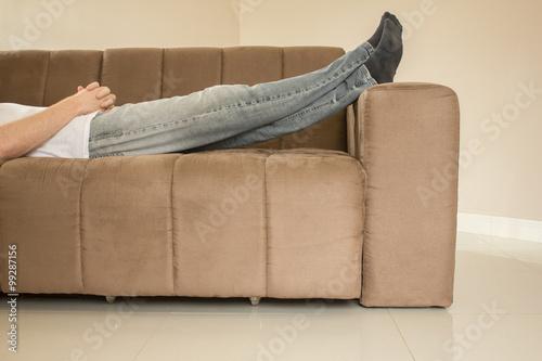Fotografie, Obraz  Descansando no sofá