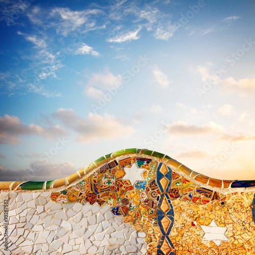 Fotografia, Obraz park Guell, Barcelona