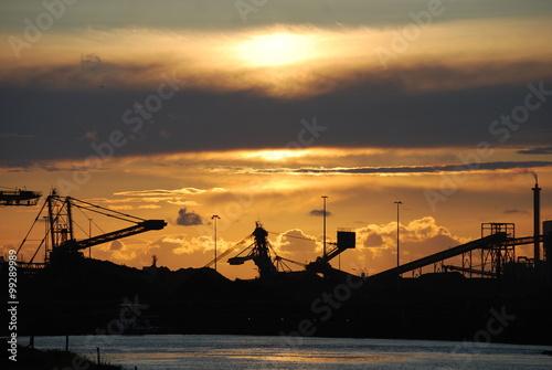 Fotografie, Obraz  Industrial Sunset Ijmuiden