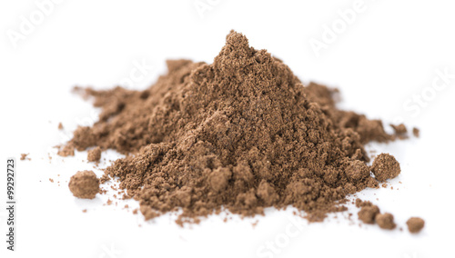 Fotografia Allspice Powder (isolated on white)