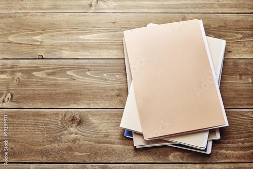 Fotografie, Obraz Files. Pile of paperwork on Wooden desk.
