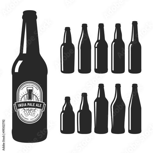Fotografia  Vector craft beer silhouettes