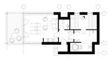 Sauna Plan View With Standard Furniture Symbols