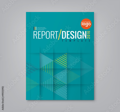 Fotografía  Abstract triangle shapes background for business annual report book cover