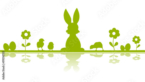 Ostern Silhouette - 99314703