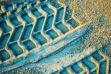 Wheel Track On Gravel Soils