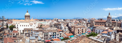Keuken foto achterwand Palermo Beautiful view of Palermo from San nicolo Tower, Sicily