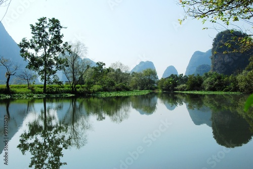 Foto op Canvas Guilin Karst landscape of Guilin,China