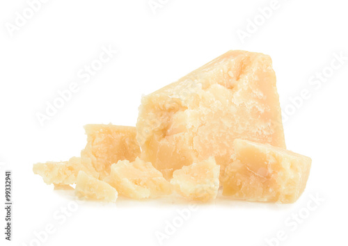 Fotografie, Obraz  parmesan cheese isolated on white background