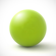 Green Sphere On White Background