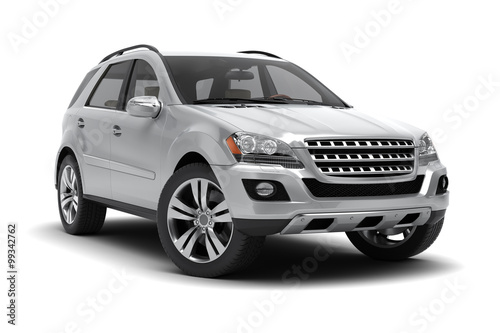 Fotografie, Obraz  Silver SUV