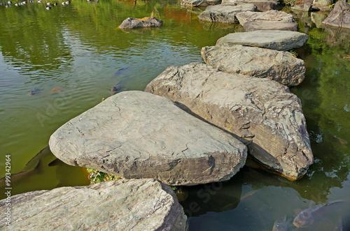 Fotografie, Obraz  The stepping stones in Kiyosumi garden in Tokyo, Japan