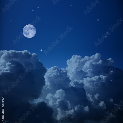 Recess Fitting Night Fantastic Aerial view of Night Sky - Clouds, Stars and the