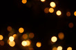 canvas print picture - defocused xmas lights