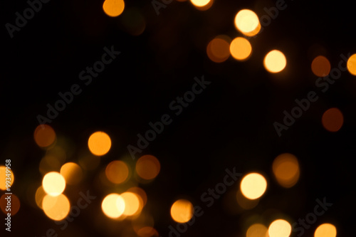 defocused xmas lights Fototapet