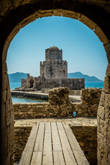 Fototapeta The Bourtzi tower, Methoni, Peloponnese, Greece.